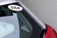 Autocollant VAP de Dominique