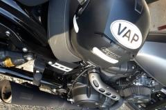 Autocollant VAP à moto